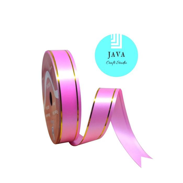 Jual Pita Kado List Emas Ukuran 20 Cm Warna Pink Kab Bandung