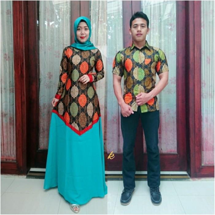 Jual Model Baju Batik Couple Kombinasi Polos Kuning Kota Pekalongan Batik Putra Brawijaya Tokopedia