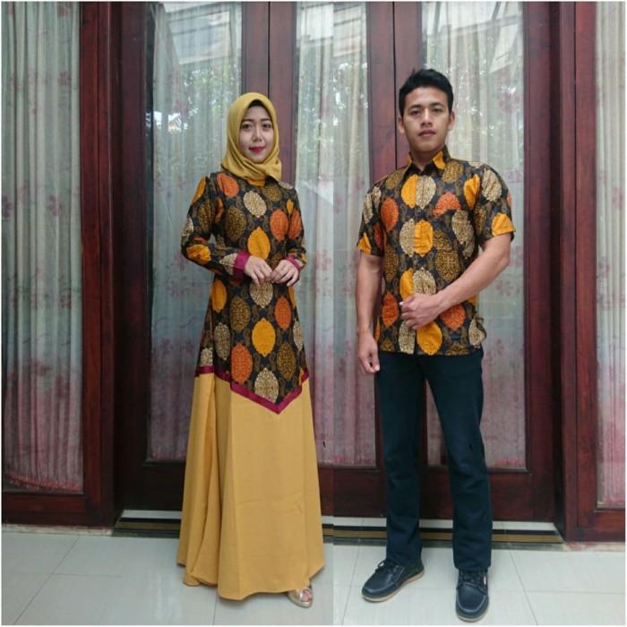 Jual Model Baju Batik Couple Kombinasi Polos Hijau Tosca Kota Pekalongan Batik Putra Brawijaya Tokopedia