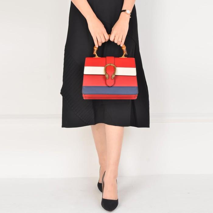 ca432ce71599 Gucci Dionysus Striped Bamboo Top Handle Bag / tas wanita / hand bag