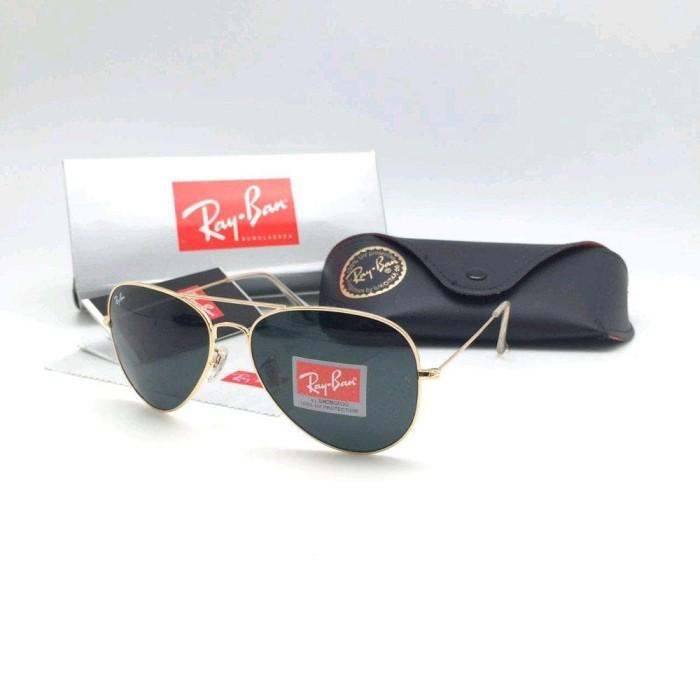 c1e56d90d583 Kacamata gaya rayban aviator gold black kacamata-ku