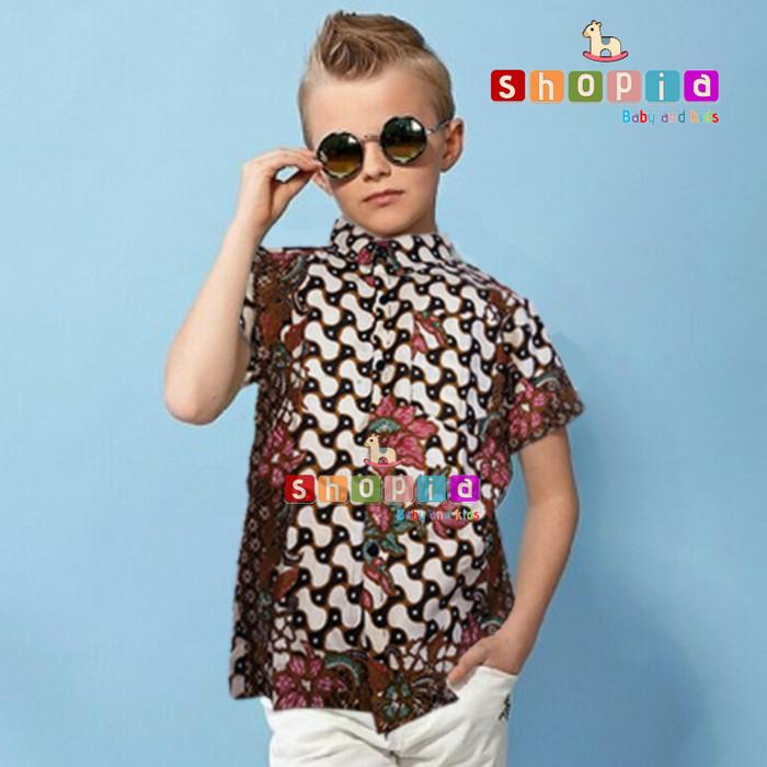 Jual Baju Batik Anak Cowok Baju Batik Anak Laki Laki Dki Jakarta Shopia Marketplace Tokopedia