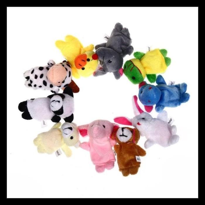 Terlengkap Mainan Boneka Jari Tangan Binatang Isi 10 Pcs Fingerhand 1d7092ad92