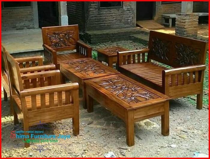 9300 Koleksi Gambar Kursi Tamu Kayu Jati Terbaru HD