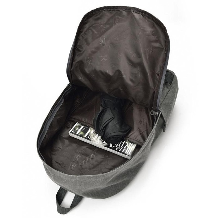 Mairu Tas Ransel Laptop Pria Wanita Sekolah Kanvas Travel Support Usb c5414d7a67