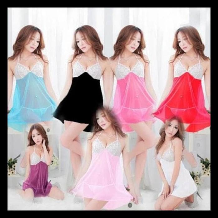 Jual TERMURAH Lingerie Sexy Baju Tidur Hitam Tipis Halus New baru ... b36e1ba5e3