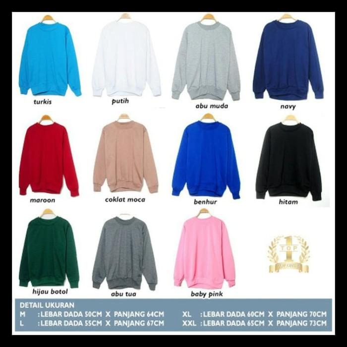CUCI GUDANG Sweater Fleece Basic Polos Murah - Jaket Pria Wanita Rajut