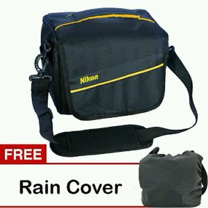 Tas Kamera Nikon Kotak Selempang - Free Rain Cover - PP-04 Berkualitas