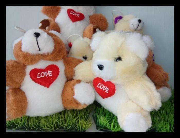 Obral Boneka Teddy Bear Love 17Cm Terlengkap