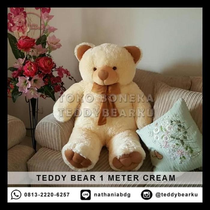 Terbaru Jual Boneka Teddy Bear Jumbo 1 Meter Warna Cream Khas Bandung 2d13f3b3bd