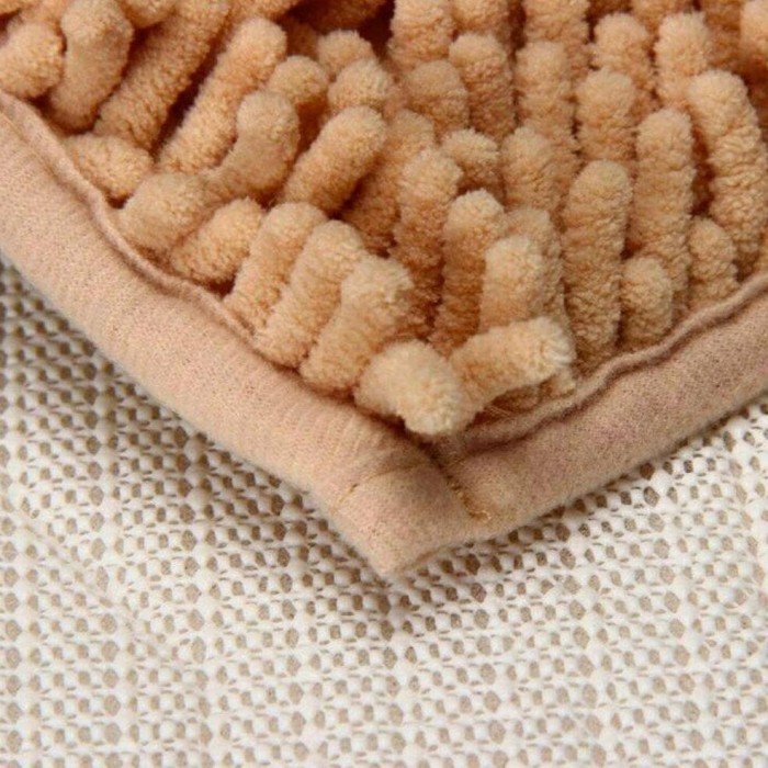 Keset Cendol Dof Mocca 40 X 60 Cm Karpet Bulu / Doormat Chenille Cream