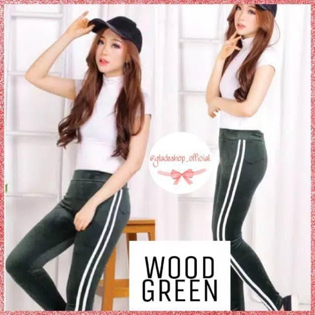 Jual Celana Legging Velvet Stripe Import Legging Bludru Suede Fashion Jakarta Utara Rafa Fashion Tokopedia