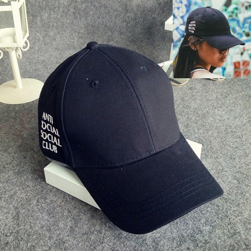 LRC Topi Fashion Letter Pattern Decorated Pure Color Simple Baseball