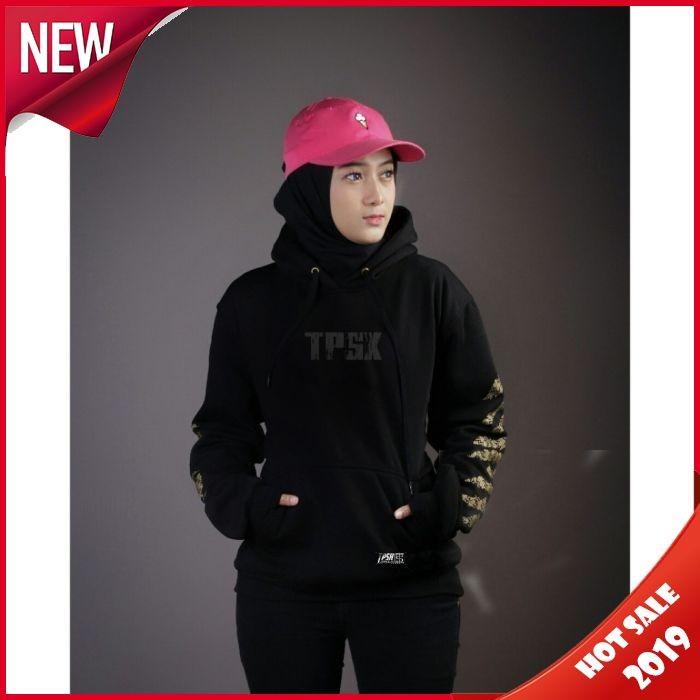 Jaket hoodie distro triplesix triple six original free gelang