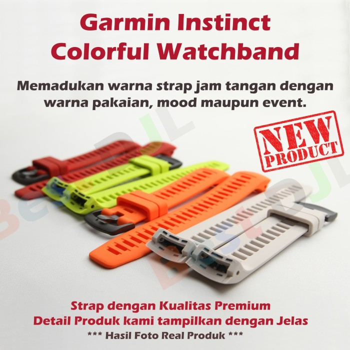 Foto Produk Colorful Watchband Strap Silikon Garmin Instinct dari Best DJL