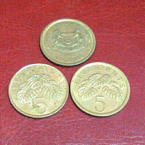 Gambar Uang Koin Singapura Jual Uang Koin 5 Cent Singapura Tahun 2005 Kota Makassar