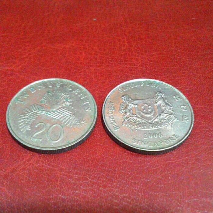 Gambar Uang Koin Singapura Jual Uang Koin 20 Sen Singapura Kota Makassar Askrening