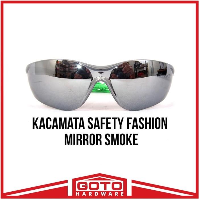 harga Kacamata safety fashion black mirror gaya gerinda hitam kaca mata Tokopedia.com