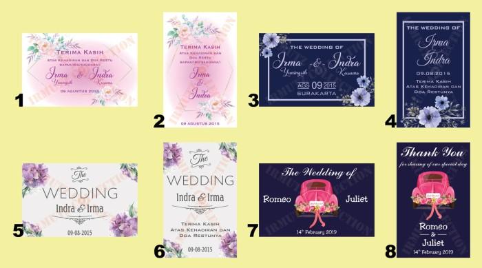 Jual Kartu Ucapan Souvenir Pernikahan Desain Romantic ...