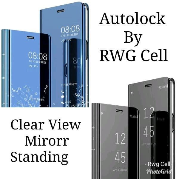 new style 50537 641a0 Jual Flip Wallet Flip CLEAR View Standing Cover Iphone 7 plus 7plus 8 plus  - RWG CELL | Tokopedia