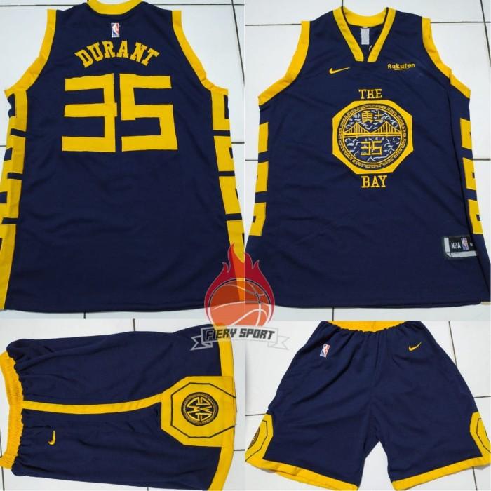 best sneakers 89918 29190 Jual Jersey Basket NBA The Bay Navy Kevin Durant - carvel shop   Tokopedia
