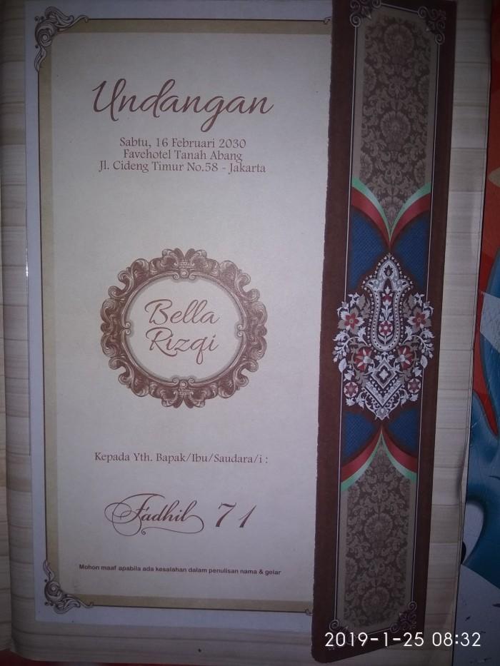 Jual Surat Undangan Pernikahan Murah Batik Falah Kota Serang Qsa Mandiri Tokopedia