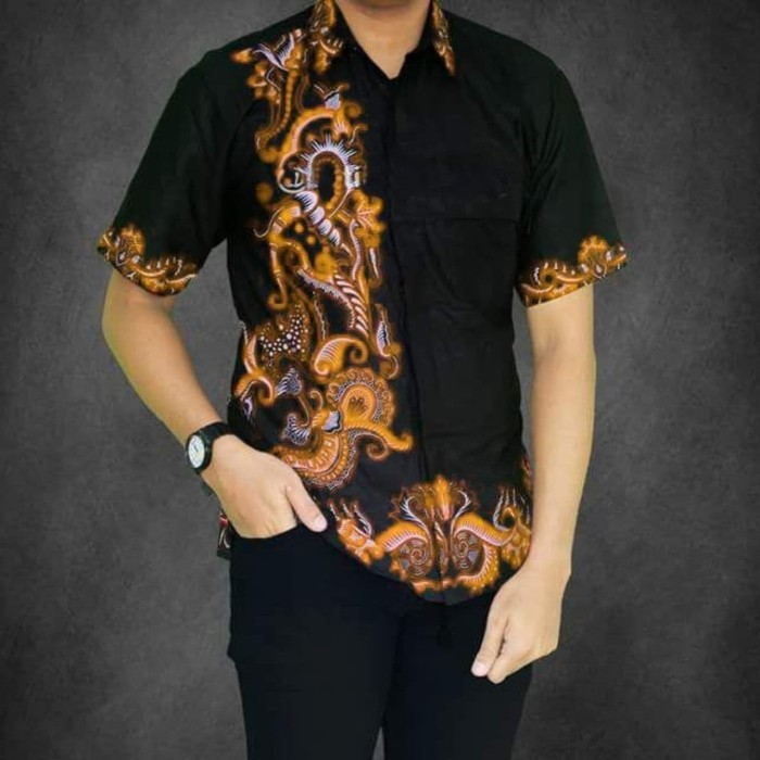Jual Model Baju Batik Kantor Kemeja Pria Kemeja Batik Pekalongan Orange Xl Kota Yogyakarta Grosir Kemeja Batik Pria Tokopedia