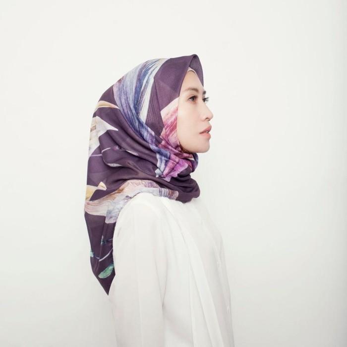 Zeta - elana printed square hijab voile / voal