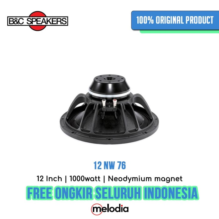 harga B&c 12nw76 12 inch komponen speaker original Tokopedia.com