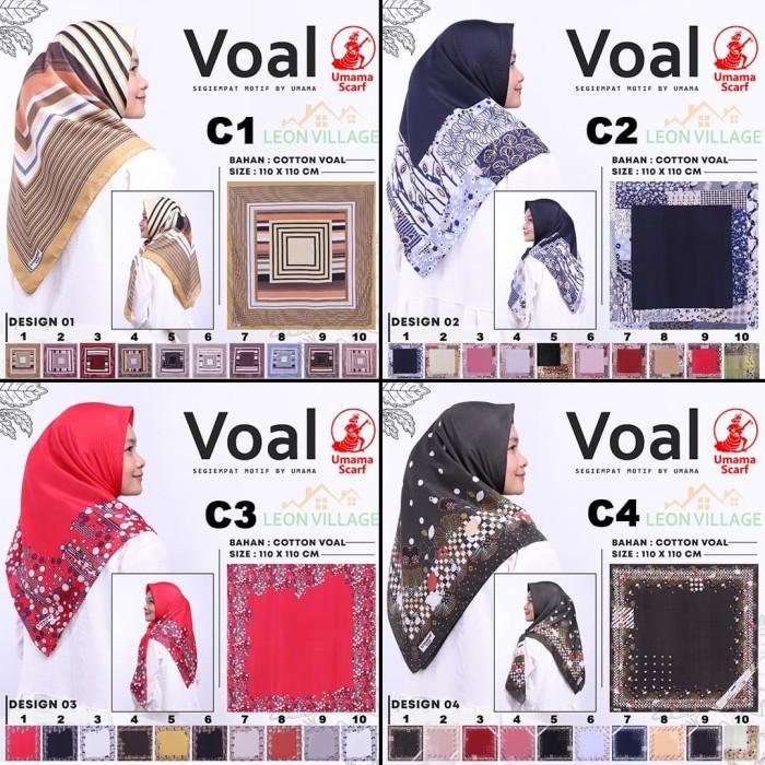 Grosir kerudung voal c umama scarf hijab jilbab segi empat motif