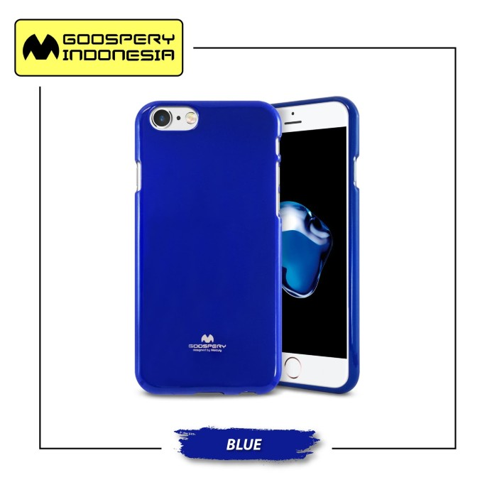 Goospery iphone 8 plus pearl jelly case - blue
