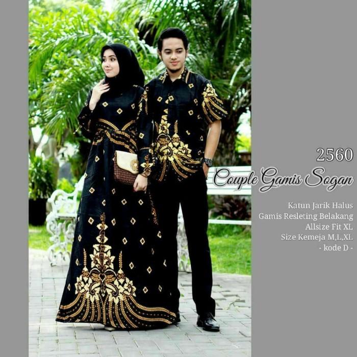Jual Gamis Batik Couple Model Terbaru Ori Sarimbit Keluarga Baju Pesta Hitam Kab Pekalongan Batik Zamzam Tokopedia