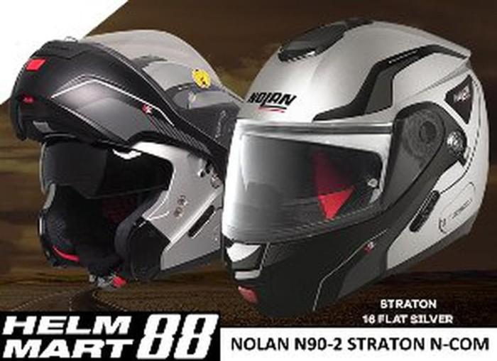 60 Nolan N90-2 Straton LED N-Com Helm L