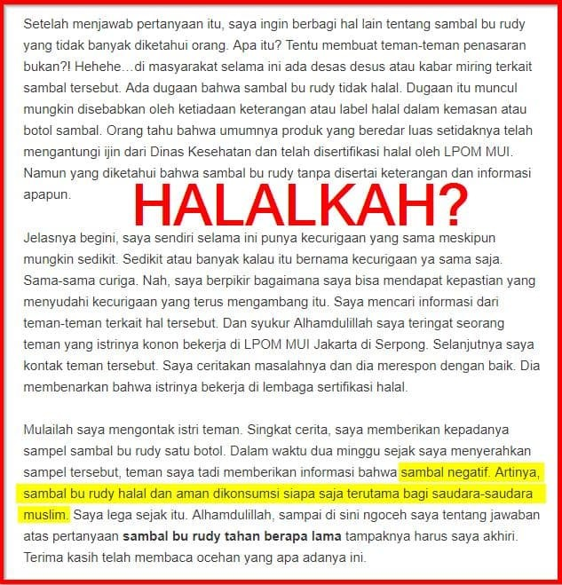 Sambal Terasi Bajak Bu Rudy Sambel Original Khas Surabaya Rudi Bekasi
