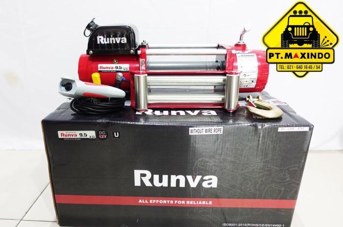 harga Runva electric winch 9.5qx (ewx-9500-q) dc 12 volt tanpa tali Tokopedia.com