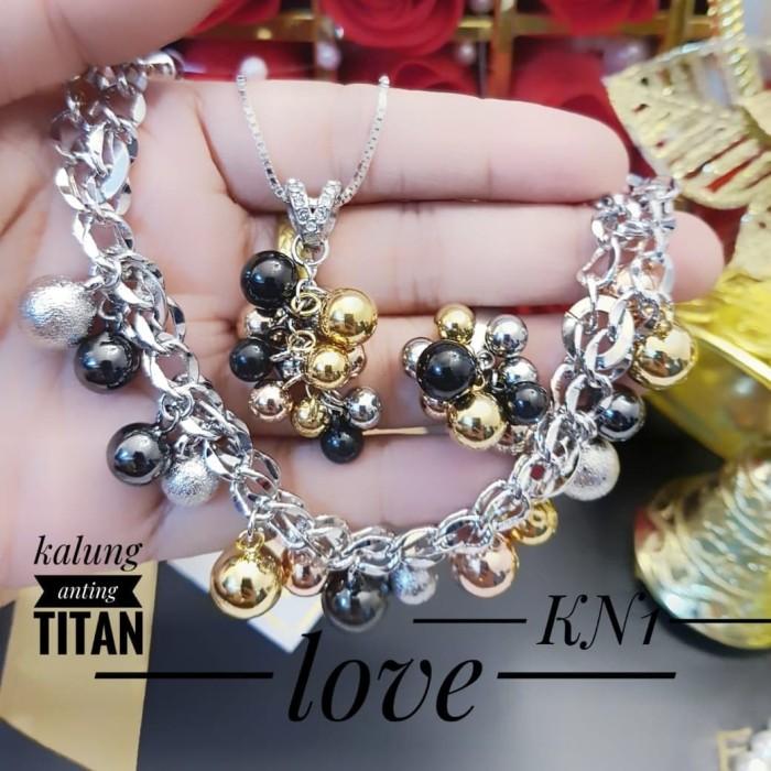 Jual Titanium Set Perhiasan Lapis Emas 24k 1302 - Kota ...