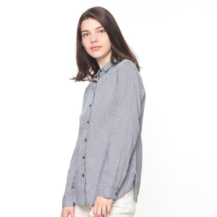 Jual Osella Baju Perempuan Kemeja Lengan Panjang Navy - Osella ... ba6764b53f