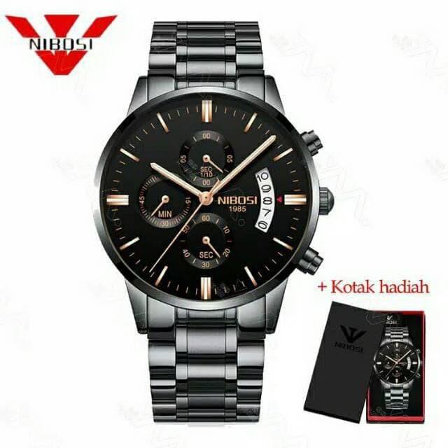harga Nibosi 2309 jam tangan stainless steel leather analog digital quartz Tokopedia.com