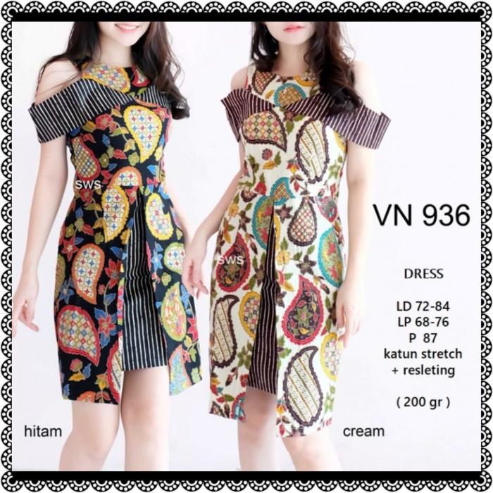 Review 936   938 Dress Pesta Batik Etnik Sepan Sabrina Modern Wanita ... f73d991321