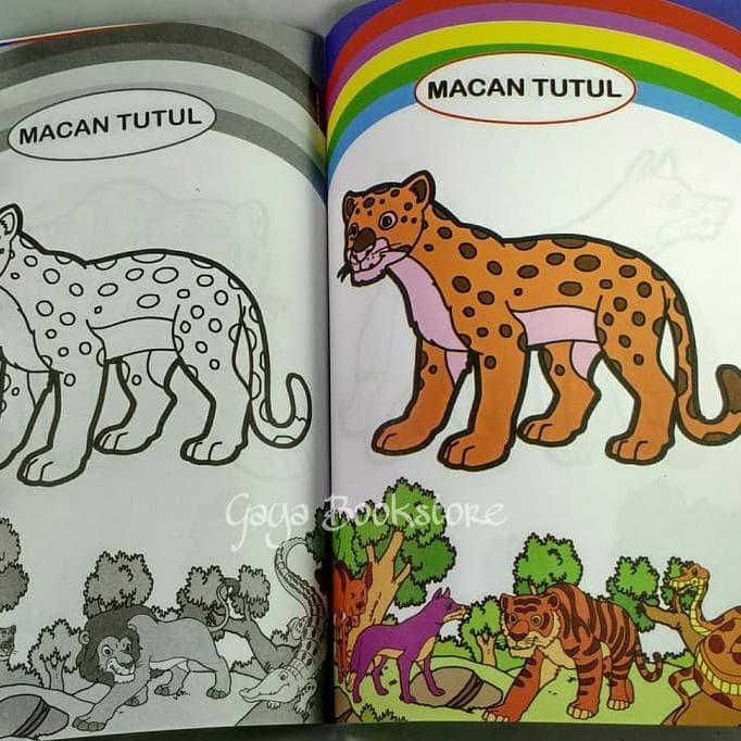 Jual Hot Deal Buku Mewarnai Binatang Buas Paud Tk Kecil Dki