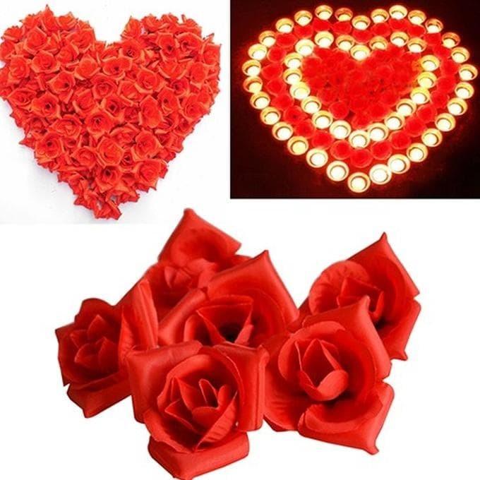 Jual Terlaris 50pcs Bunga Mawar Sutera Imitasi Dekorasi Lamaran