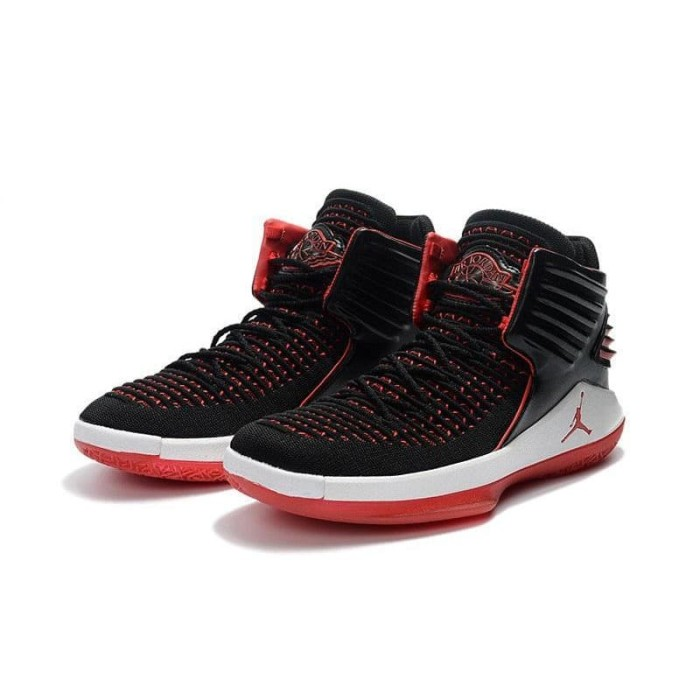 3e9bb79bac2b Nike High Air Jordan 32 XXXII Bred Black Red Perfect Kick Original PK