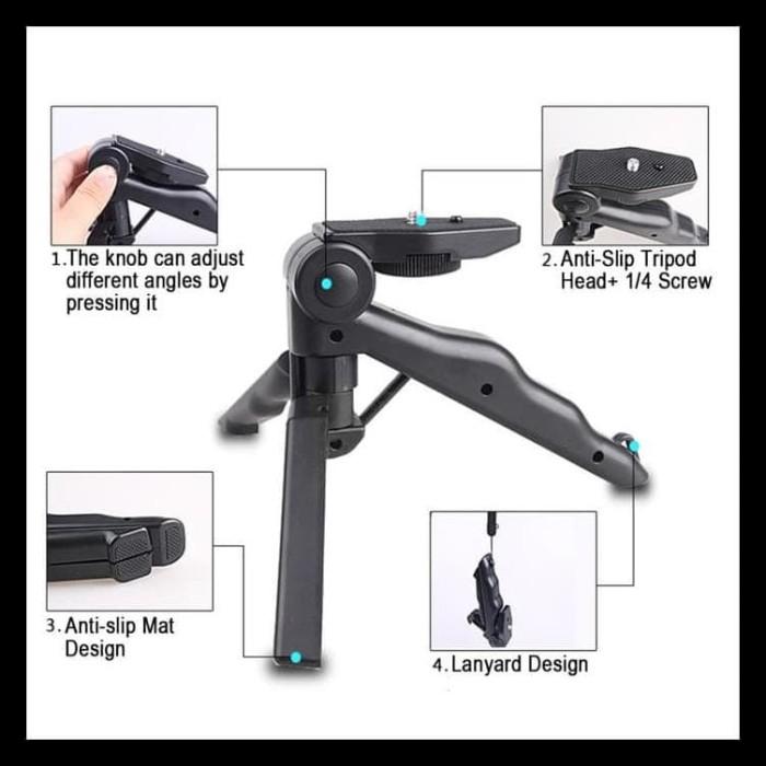 Boom Sale Tripod Mini Foldable 2 In 1 Untuk Dslr Gopro Handycam Camera