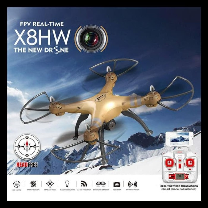 Terlengkap Syma X8Hw With Camera Drone Hold Wifi/Live View/2 Mp