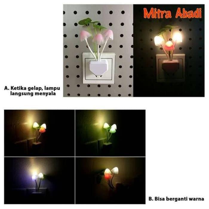 Hemat Lampu Tidur Led Jamur Mini Sensor Cahaya Special