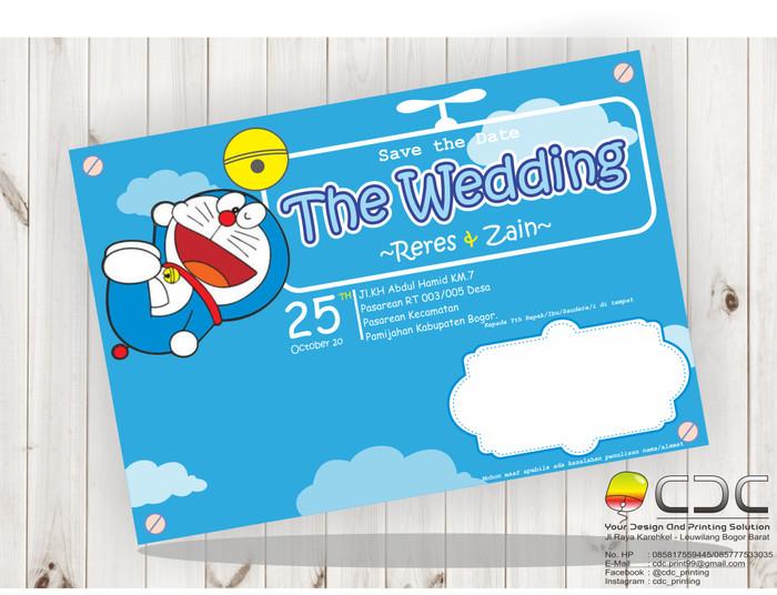 Jual Undangan Pernikahan Doraemon Biru Muda Kab Bogor Cdc Printing Tokopedia