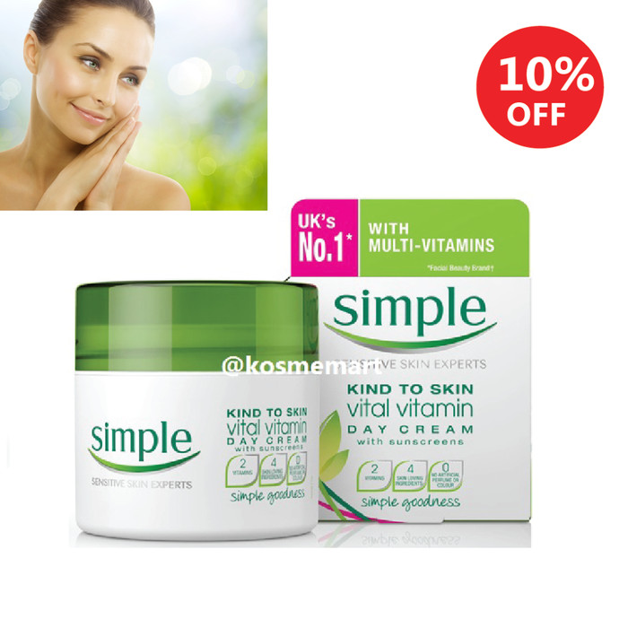 Simple kind to skin day cream spf 15 uva/uvb impor uk best product!