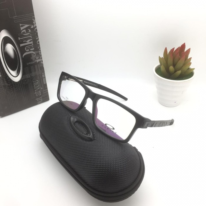 Jual frame kacamata oakley currency black doff - JayaKacamata ... 95fb3e89b8