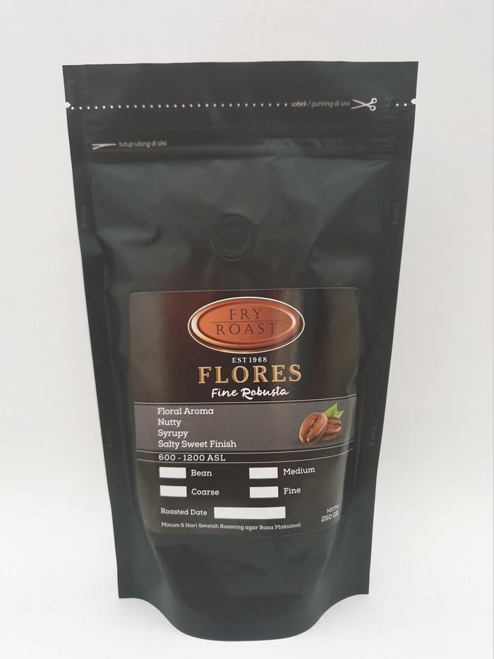 Kopi robusta flores 250 gram (biji/bubuk)
