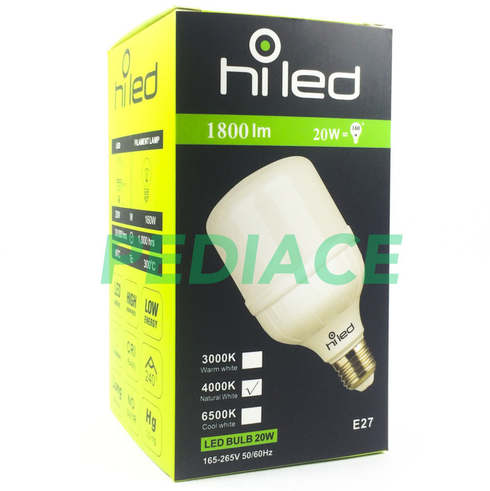 harga Lampu bohlam led hiled bulb 20w 20watt natural white 4000k e27 1800lm Tokopedia.com